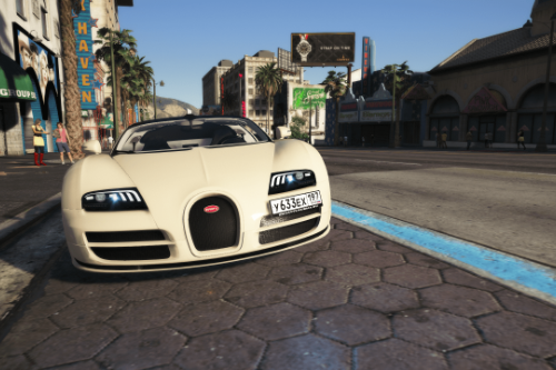 Bugatti Veyron 2012 | Russian license plates paintjob
