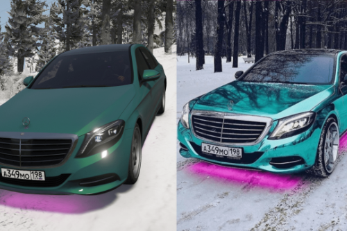 Bulkin Amoral 2014 Mercedes-Benz S500 L || Russian license plates paintjob