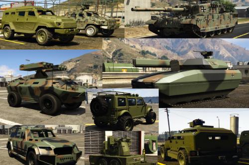 Bundeswehr-Tarn-Pack Bodenfahrzeuge2 / german-army-camou-pack2