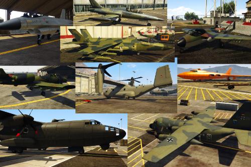 Bundeswehr-Tarn-Pack Flugzeuge / german-airforce-camouflage-pack