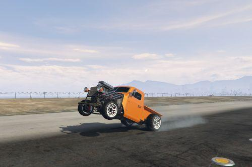 Burnout Wheelie