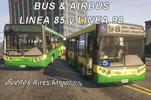 Bus 98 and 85 BsAs Arg. (Replace)(BUS / AIRBUS)