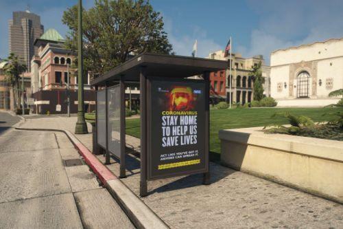 Bus-Stop Ad - Covid-19