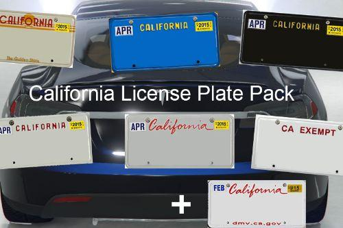 Db564b california license plate pack