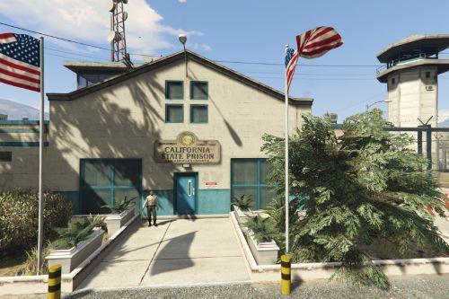 California State Prison entrance sign