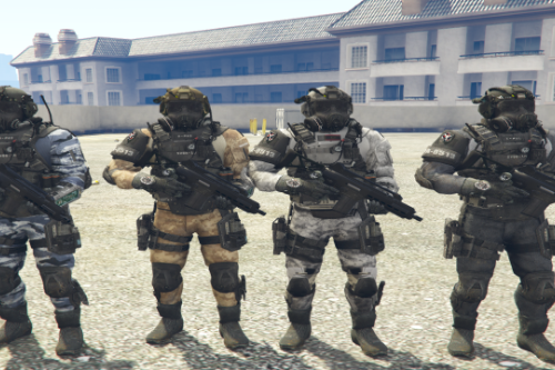 Call Of Duty Ghosts: PMC Model Texture Variation Pack