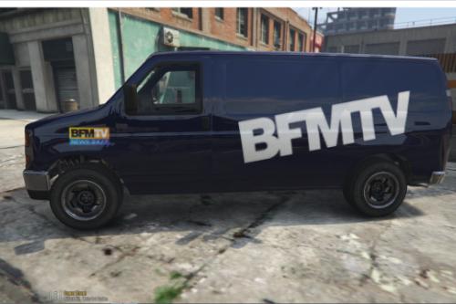Camionette BFMTV-France 2-Itélé
