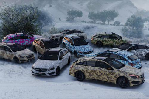 Camo Livery Pack for Mercedes CLA 45 Shooting Brake