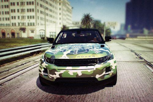Camouflage Skull Livery for Range Rover Evoque (2 versions)