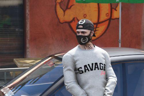 Cap reverse SAVAGE & illiminate. [Freemode Male]