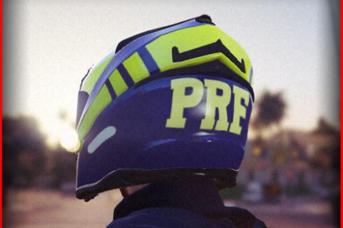 Capacete Da PRF Motocicleta (Policia Rodoviaria Federal) Police Helmet High Way Brazilian