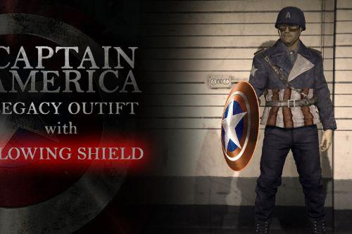 Captain America Legacy Outfit with Glowing Shield