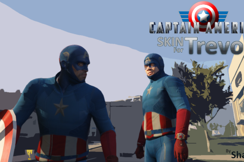 Captain America skin for Franklin And Trevor