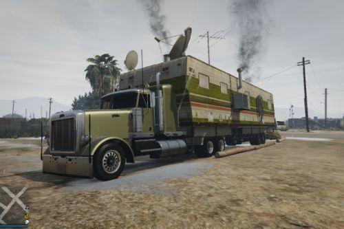 Caravan Truck with lights and interior (MENYOO)