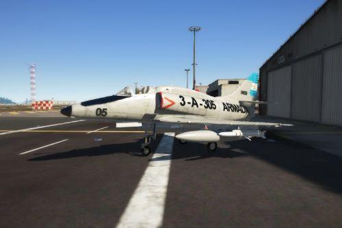 Caza bombardero A4-Q  Skyhawk  (Argentina)