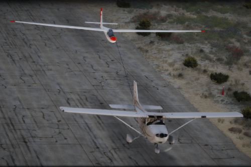 Cessna 172SP + ASW15 Glider [Add-On | Failure Menu I Tuning I Liveries]
