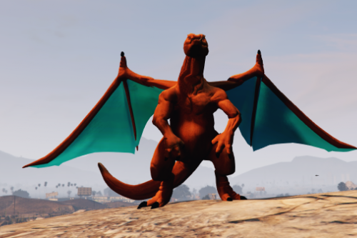 Charizard + Animated Wings [Addon-Ped]