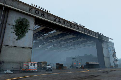Checkpoint disease research and survivor assistance Fort Zancudo Zombie Apocalypse (Map Editor)