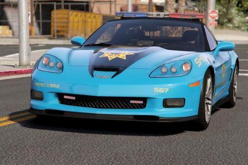 Chevrolet Corvette ZR1 NFS Hot Pursuit Police Car (SCPD/BCSO) [Add-On| ELS]