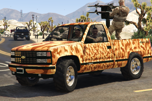 Chevrolet Silverado 1990 With Anti Aircraft Missile  [Replace]