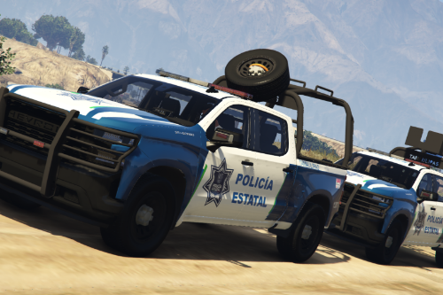 Chevrolet Silverado 2019 Policia Estatal Tamaulipas [Add-On / FiveM]