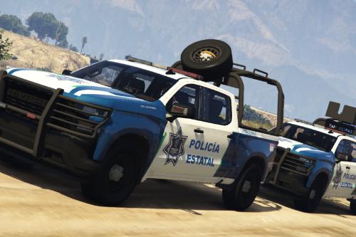 Chevrolet Silverado 2019 Policia Estatal Tamaulipas [Add-On / FiveM]