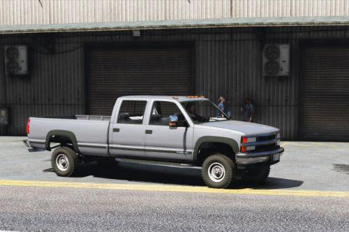 Chevrolet Silverado 3500 LS Crew Cab 4x4 1999 [Add-On | Replace | Extras]