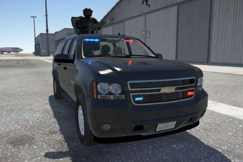 Chevrolet Suburban with pop-out Gatling Gun [Add-On | Working Sirens]