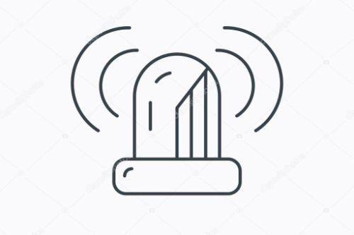 13d70b depositphotos 80132568 stockillustratie sirene alarmicoon waarschuwing knipperend licht