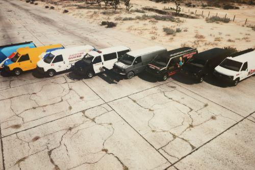 Chevy Express 3500 pack [ Replace | Snow | LA police | Real companies ]