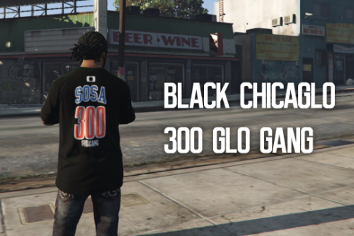 Chief Keef / Glo Gang : Chicaglo 300 T-Shirt (Black)