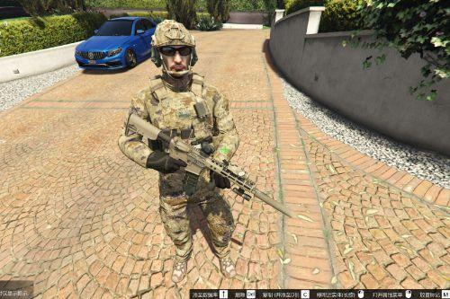 "中国人民解放军星空迷彩 Chinese army ""Xingkong"" camouflage (retexture) for mp male"