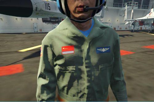 Chinese Navy J15a Pilot