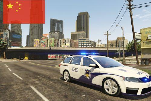 Chinese Police Škoda Octavia Hatchback - 斯柯达明锐 (掀背式)