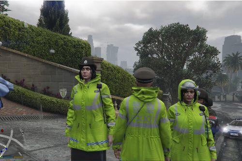 中国交警雨衣  Chinese traffic cop raincoat