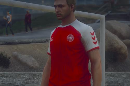 Christian Eriksen Denmark Euro 2020 Home Kit | Football Jersey [FiveM Ready]