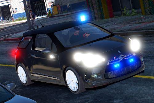 Citroën DS3 Unmarked police - banalisée