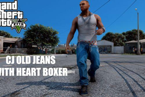 CJ Old Jeans with Heart Boxer