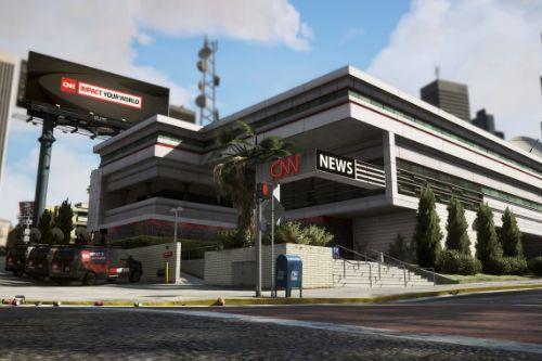 CNN - WEAZEL News Building Reworked [Add-On / Replace]