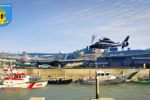 Coastal Callouts German Addon /  Zoll | Polizei | Rettung | Bundespolizei Helicopter