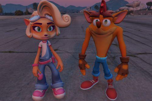 Crash and Coco Bandicoot [Add-On Ped]