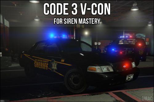 Code 3 V-Con for Siren Mastery