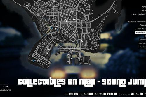 Collectibles on Map - Stunt Jumps