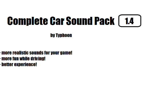 Complete Car Sound Pack