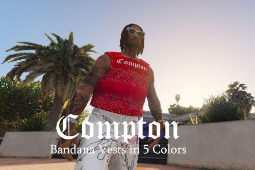 Compton Bandana Vests For MP Male (5 Colors)