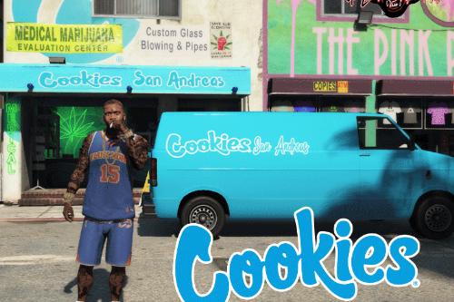 Cookies Dispensary and Van Texture