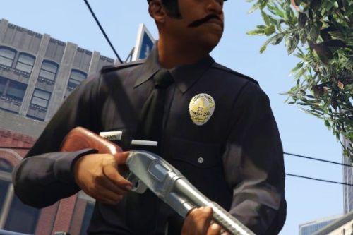Cops sideburns moustache 70's