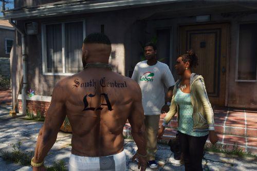 LA Nayba-Hood (NH) Crip body tattoo for Franklin