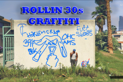 Crip Gang Graffiti (R30s)