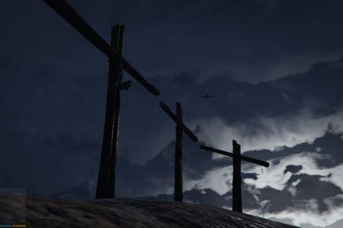 Crucifixion/Cross scene at Mount Josiah [Menyoo]